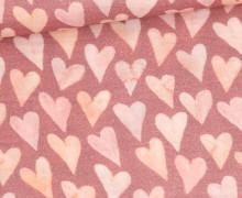 Bio Musselin - Muslin - Watercolor Hearts - Big - Organic Cotton - Double Gauze -  Altrot