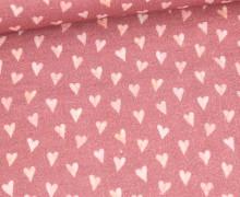 Bio Musselin - Muslin - Watercolor Hearts - Small - Organic Cotton - Double Gauze -  Altrot