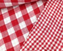 Musselin - Muslin - Double Gauze - Doubleface - Kariert - Rot/Weiß