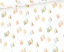 Bio Musselin - Muslin - Lovely Watercolor - Organic Cotton - Double Gauze -  Weiß