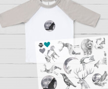 Onkel Bo's Bügelbilder - DIN A4 - Black & White Animals