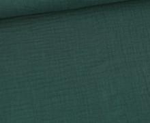 Bio Musselin Lotta - Muslin - Uni - Organic Cotton - Double Gauze -  Kieferngrün