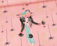 Sommersweat - Zarina Zombie - Zombiegirl Klein - Paneel - Rosa - Bio Qualität - abby and me