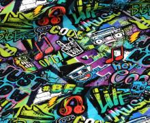 Jersey - Graffiti - Bunt - Schwarz