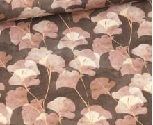 Canvas - feste Baumwolle - Ginko Flower - Braun