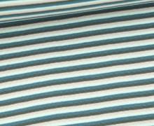 Glattes Bündchen - Schlauchware - Streifen - 4mm - Multicolor - Forest