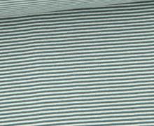 Glattes Bündchen - Schlauchware - Streifen - 1mm - Multicolor - Forest