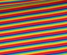 Glattes Bündchen - Schlauchware - Streifen - 2mm - Rainbow