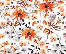 Sommersweat - Flowers of Autumn - Blumen - Weiß - Bio Qualität - abby and me