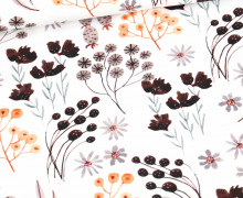 Sommersweat - Flowers of Autumn - Pflanzen - Weiß - Bio Qualität - abby and me