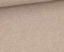 Waffel Piqué - Baumwolle - Meliert - Taupe