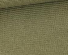 Waffel Piqué - Baumwolle - Meliert - Olivgrün