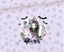 Sommersweat - Dark Gothic Girl - Paneel - Halloween - Lila - Bio Qualität - abby and me