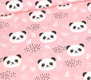 Sommersweat - Cute Pandas - Rosa - Bio Qualität - abby and me