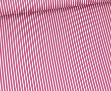 Baumwolle - Webware - Stripe - Weiß/Altbeere