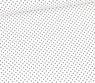 Baumwolle - Webware - Pünktchen - Petit Dots - Weiß/Schwarz