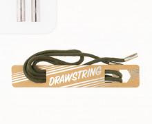 Hoodieband - Ca. 114cm - Schmale Kordel - 5mm - Zugeschnitten - Mit Silbernen Kordelenden - Flaschengrün
