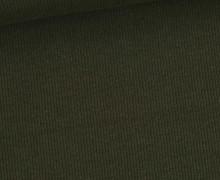 Bündchen Standard - Feine Rippen - Uni - Olivgrün Dunkel - #861