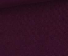 Bündchen Standard - Feine Rippen - Uni - Bordeauxviolett - #257
