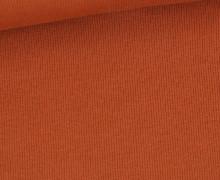 Bündchen Standard - Feine Rippen - Uni - Rostorange - #932