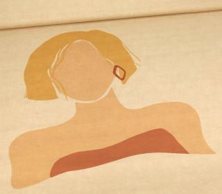 Viskose Jersey - BOHO Women - Blond - Paneel - Beigebraun Meliert - abby and me