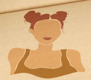 Viskose Jersey - BOHO Women - Hellbraun - Paneel - Beigebraun Meliert - abby and me
