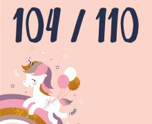DIY-Nähset Kleidchen - Einhorn - Größe 104/110 Jersey - NIKIKO - zum selber Nähen (Mengeneinheit: 1Stück)