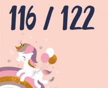 DIY-Nähset Kleidchen - Einhorn - Größe 116/122 Jersey - NIKIKO - zum selber Nähen (Mengeneinheit: 1Stück)