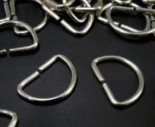 10 D-Ringe - 20mm - Taschenring - Silber