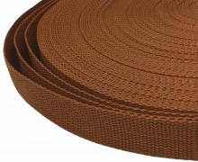 1 Meter Gurtband - Braun (299) - 20mm