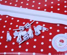 2m Endlosreißverschluss*B+10 Zipper - Weiß (101)