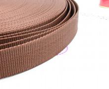 1 Meter Gurtband - Braun (299) - 30mm