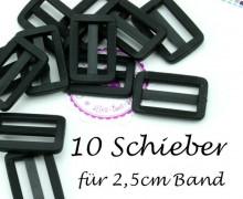 10 Schieber aus Kunststoff für 25mm Band