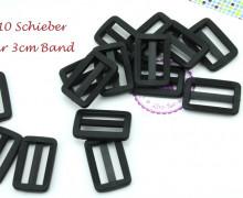 10 Schieber aus Kunststoff für 30mm Band