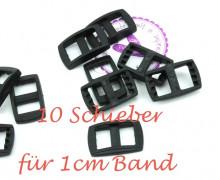 10 Schieber aus Kunststoff für 10mm Band