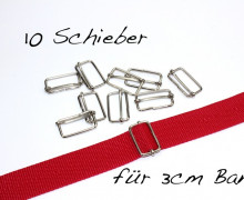 10 Schieber aus Metall für 30mm Band
