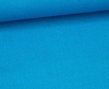 Canvas Stoff - feste Baumwolle - Uni - 145cm - Cyanblau