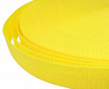 1 Meter Gurtband - Zitronengelb (110) - 25mm