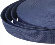 1 Meter Gurtband - Dunkelblau (330) - 25mm