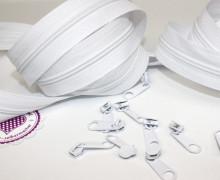 2m Endlos Reißverschluss *s*+ 10 Zipper  Weiß (101)