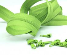 2m Endlosreißverschluss*S+10 Zipper Apfelgrün (234)