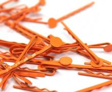 10 Haarnadeln mit Pin- Hair Clip - Spangen - Orange