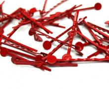 10 Haarnadeln mit Pin - Hair Clip - Spangen - Rot