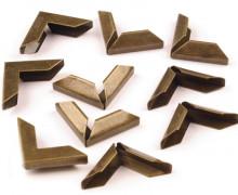 10 Taschenecken - Metallecken - Metallspitzen