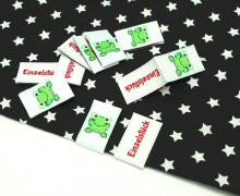 10 Label - Einzelstück - Frosch - weiß