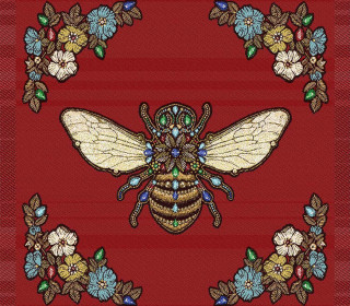 Kissen Top - 48cm x 48cm - Royal Punk - Jacquard - Queen-Bee - Weinrot