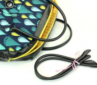 Taschengriffe in Schwarz Leder – Henkel 50cm