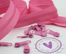 2m Endlosreißverschluss *B + 10 Zipper - Pink (146)