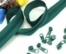 2m Endlosreißverschluss*B* + 10 Zipper - Flaschengrün (272)