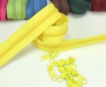 2m Endlosreißverschluss *B + 10 Zipper - Hellgelb (110)